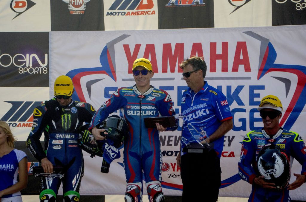 Yoshimura Suzuki Riders Roager Lee Hayden and Toni Elias dominated MotoAmerica Superbike racing at NJMP